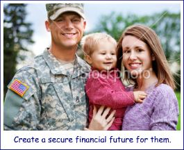 Military families can create a secure financial future with assistance from Military-Money-Matters.com.