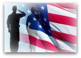 airman saluting flag