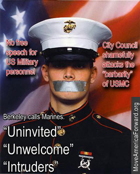 The Berkeley City Council attempts to muffle the Marines