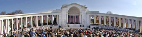 Veterans Day ceremony at the Memorial Amphitheater in Arlington National Cemetery.
