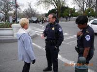 Coward John Murtha sics Capitol Police on tiny Bev Perlson of Band of Mothers