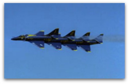 Blue Angels Left Echelon