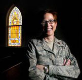 Chaplain (Major) Sarah Shirley, the driving force behind Military Saves