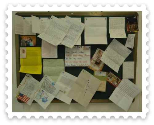 Christmas letters posted to share