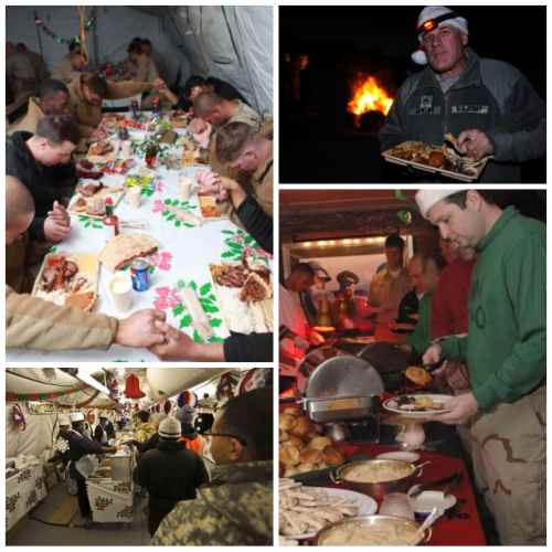 Festive meals for Christmas during war.