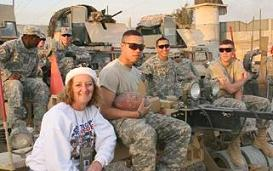 Gold Star Mom Debbie Less spends Christmas with troops in Iraq.