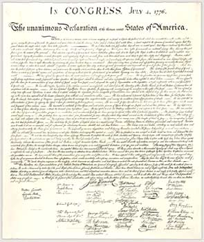 Declaration of Independence -- Independence Day