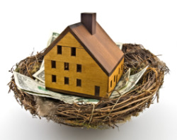 Create a nest egg by buying a home.