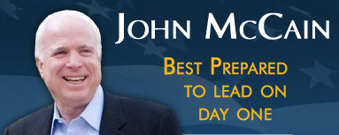 John McCain - best prepared to lead on Day One.