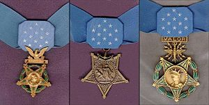 Medals of Honor, the highest American military award for valor