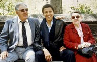 Barack Obama and his white grandparents.