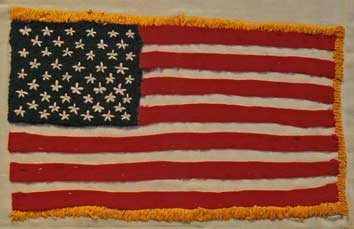 American POW's in Vietnamese prison camps fashioned hand-made American flags from whatever threads they could find.