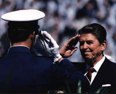 President Reagan was a strong supporter of our military