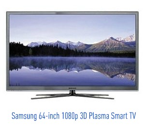 The Samsung PN64D8000 64-inch 1080p 3D Plasma 8000 Series Smart TV has all the bells and whistles you could want, and then some.