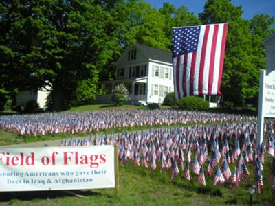 Flags for soldiers- in memory of those who have made the ultimate sacrifice for our country in Iraq and Afganistan