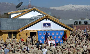 The Pat Tillman USO Center at Bagram Air Base, Afghanistan, named in honor of the fallen Army Ranger who walked away from an NFL career to serve his country.  A true hero.