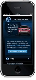 USAA Auto Circle now available via iPhone app.