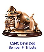 USMC Bulldog Sculpture: Semper Fi Tribute
