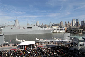 USS New York commissioned in NYC
