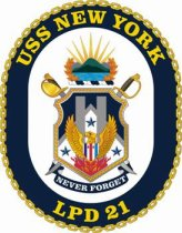 USS New York ship's crest