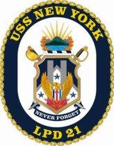 USS New York ship's crest