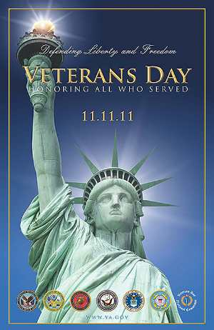 Veterans Day 2011 falls on the very special date 11-11-11. Pause to thank a veteran on this day, and every day.