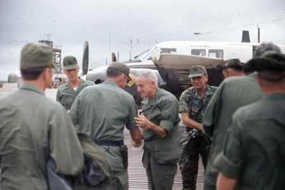 Admiral McCain near the DMZ, Christmas Day 1970