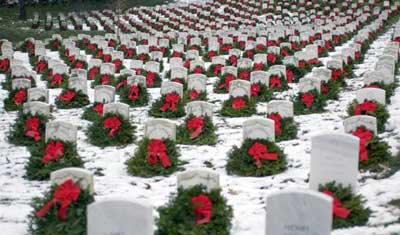 Christmas Wreaths at Arlington National Cemetery