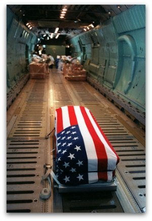 To those who have worn the uniform, our flag represents all their comrades-in-arms who came home in a flag-draped box.