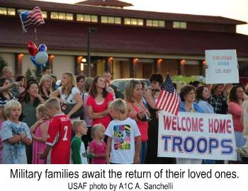 Military Families await the return of their loved ones. A new military family assistance program was announced by the White House to support our nation's military families.