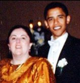 Barack Obama and his mother, Ann Dunham Obama Soetoro, on his wedding day