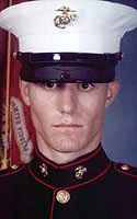 Marine PFC Chance Phelps, whose final journey home became the film 'Taking Chance'.