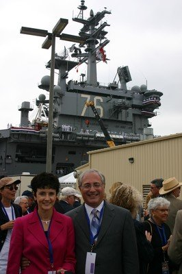 MAF Chief Strategist Sal Russo and his wife, Janet, at homeporting ceremony for USS Ronald Reagan (CVN-76).