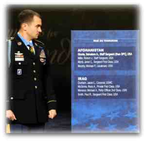 Army SSG Salvatore Giunta is the first living Medal of Honor recipient from the Global War on Terror.