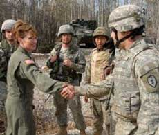Sarah Palin, Alaska governor and CINC Alaska National Guard