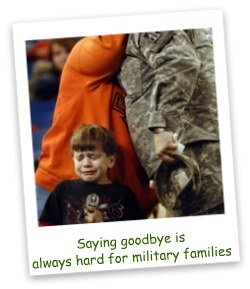 Saying goodbye is always hard for military families.