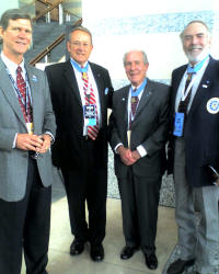 Bob Stumpf, Florida Veterans for McCain Co-Chair and former Blue Angels Boss, with Medal of Honor recipients Roger Donlon, Drew Dix, and Thomas Hudner at the Republican National Convention on Thursday.  From left to right: Bob Stumpf, Roger Donlon, Drew Dix, and Thomas Hudner