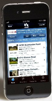 USAA Home Circle lets you view MLS listings of homes for sale on your iPhone.