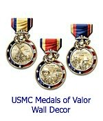 United States Marine Corps Medals Of Valor Wall Decor Collection