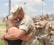 Marine and wife reunited after deployment