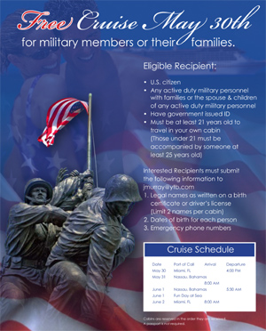 Free Cruise for Military Personnel